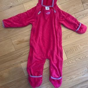 The North Face Infant one piece fleece suit
